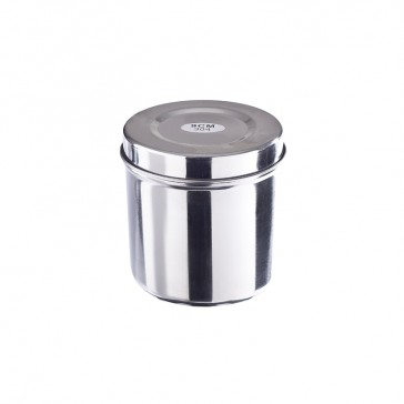 Surgical stainless steel container with lid  - 9cm