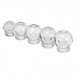 Premium Finger & Palm Grip Glass Fire Cups (65mm)